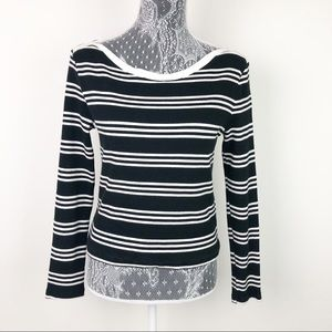 Everleigh Striped Cropped Long Sleeve Top